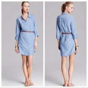 Joie Tarellia Long-Sleeve Denim Shirt Dress